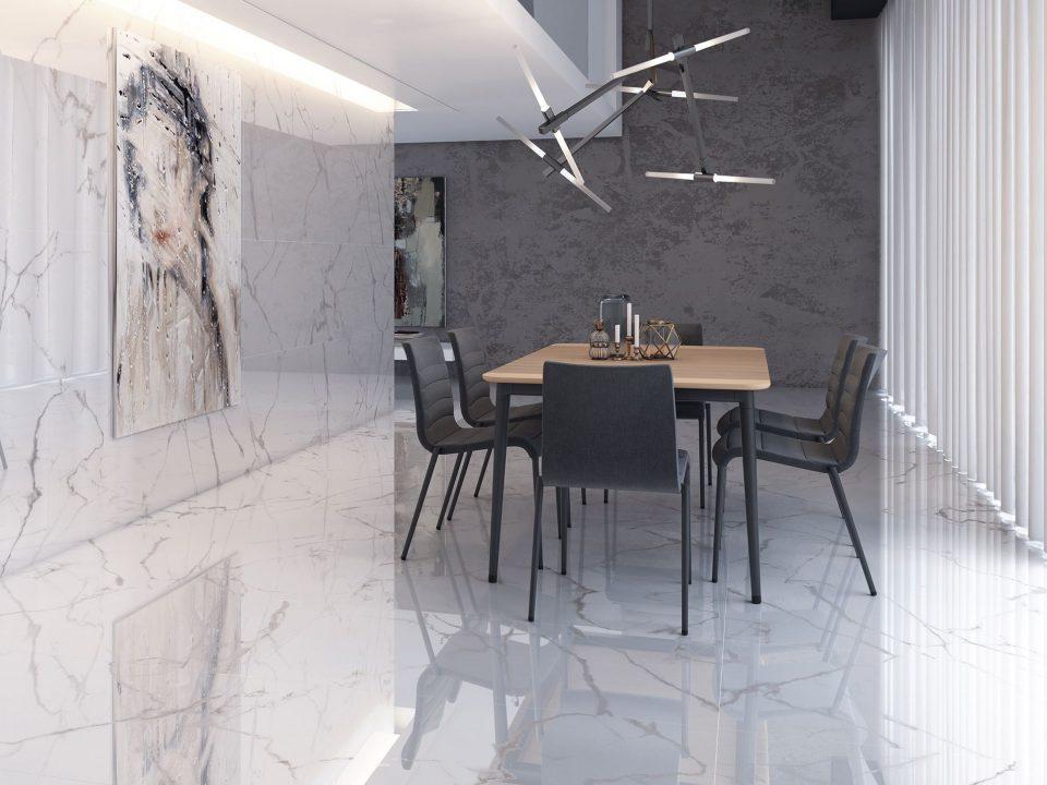 Płytka Marmur Cifre Carrara Bianco